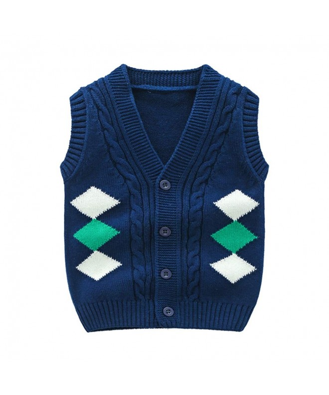 Wellwits Diamond Print Button Sweater