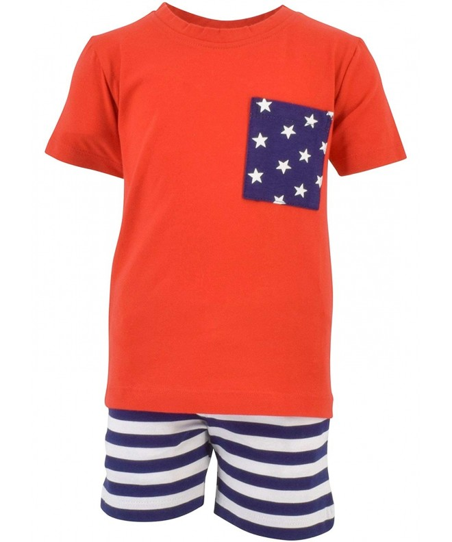 Unique Baby Patriotic 2 Piece Summer