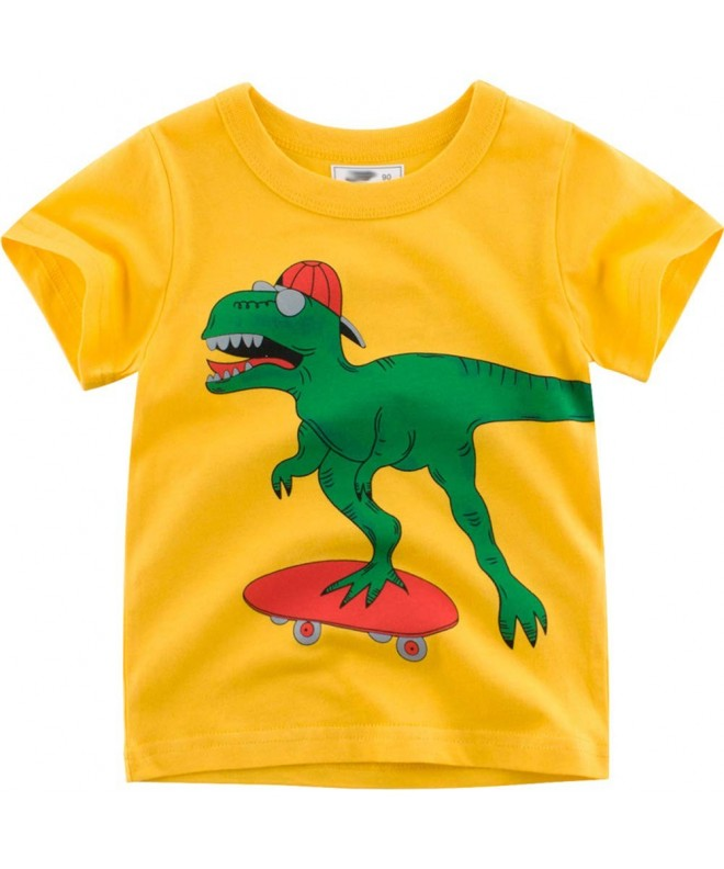 Summer Children shirt Dinosaur Sleeve