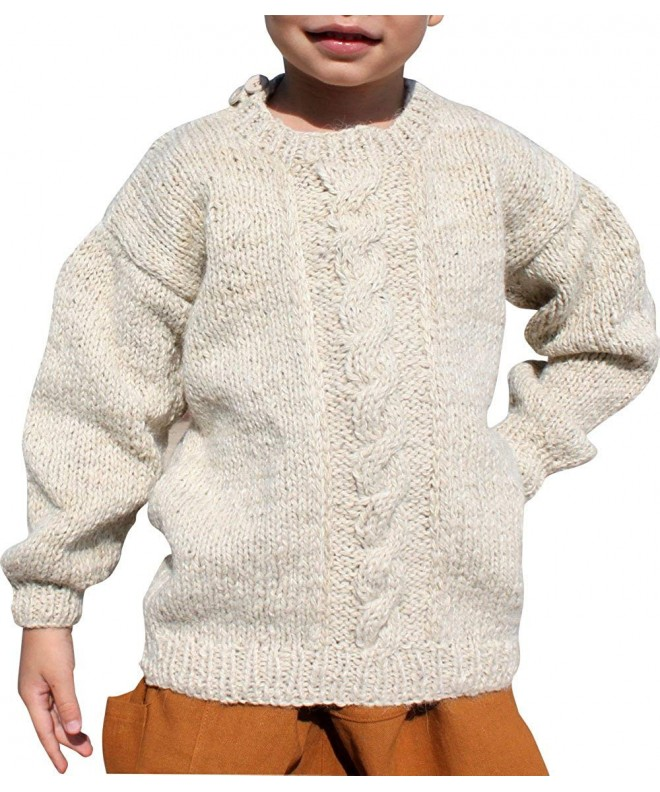 RaanPahMuang Woollen Button Shoulder Children