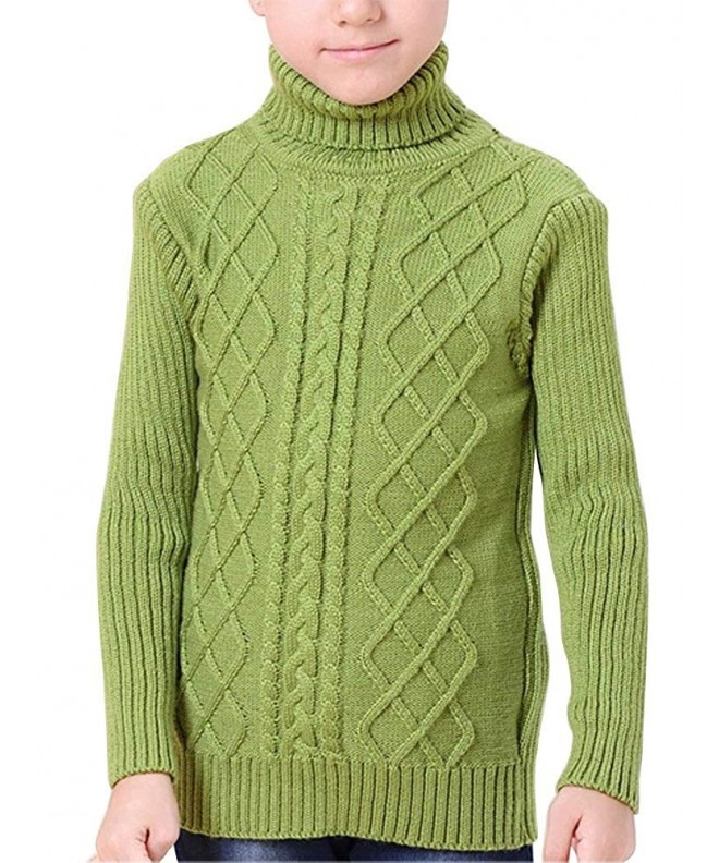 OCHENTA Knitted Turtleneck Pullover Sweaters