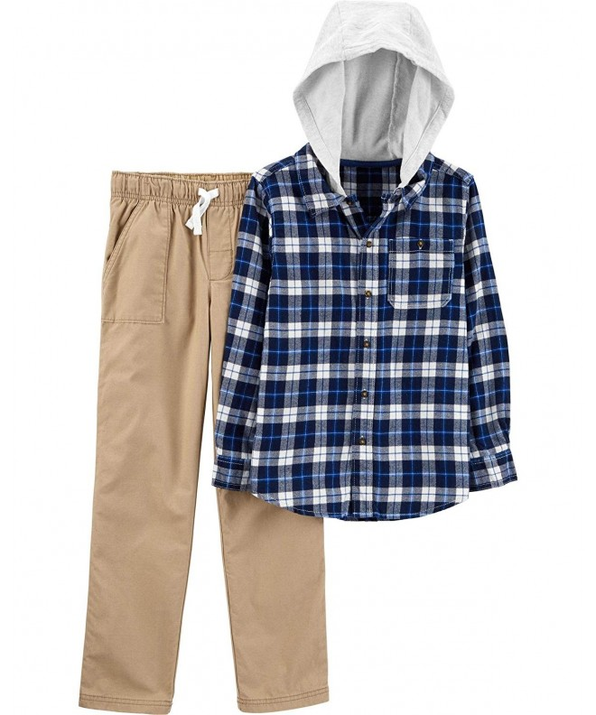 Carters 2T 4T 2 Piece Plaid Shirt