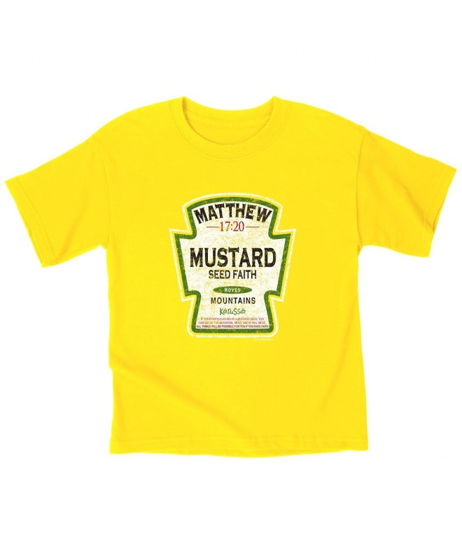 Kerusso Mustard Kids T Shirt 3T Christian Fashion
