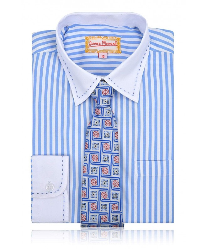 JAMES MORGAN Stripe Shirt Geometric
