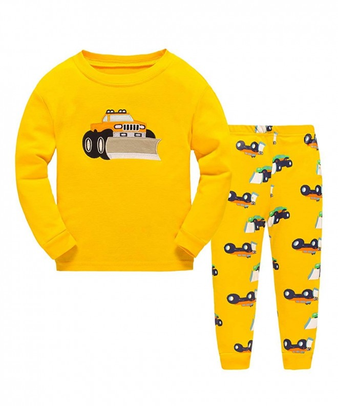 Bulldozer Pajamas Sleepwear Clothes Toddler