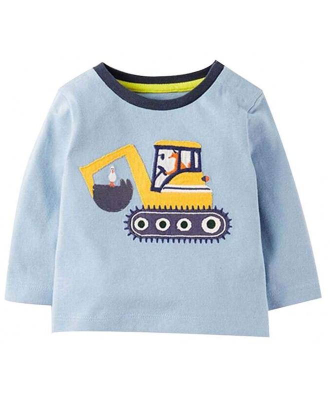 Littleladybug excavator Crewneck Cartoon T shirt