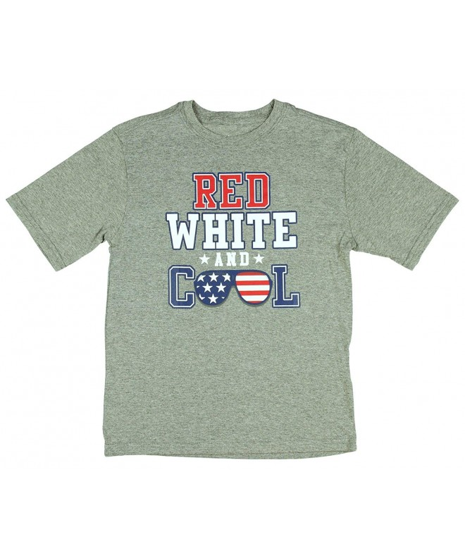 Boys White American Graphic T Shirt
