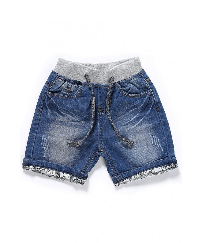 LITTLE GUEST Boys Regular Denim Shorts