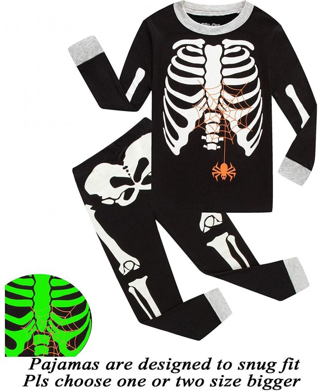 Christmas Pajamas Halloween Skeleton Glow Toddler