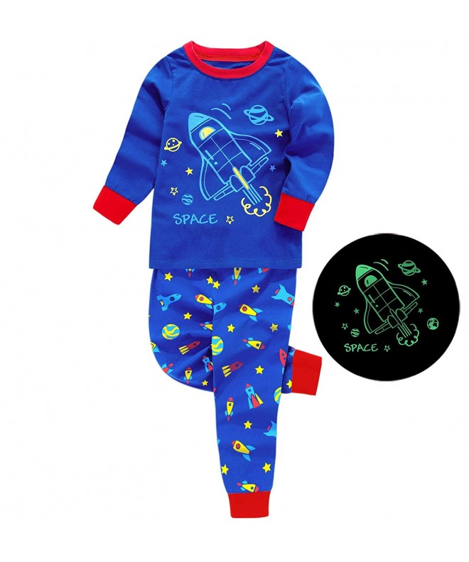 Boys Pajamas Long Sleeve Toddler Clothes Set Dinosaur 100/% Cotton Little Kids Pjs Sleepwear