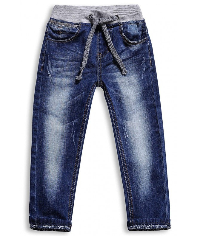 LITTLE GUEST Boys Straight Jeans Pants
