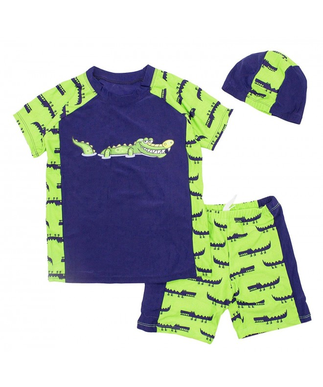 stylesilove Cartoon Dinosaur Rashguard Shorts