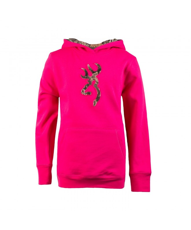 Browning Youth Buckmark Sweatshirt Fuchsia