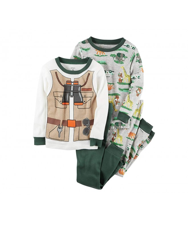 Carters 9M 12 4 Piece Safari Pajama