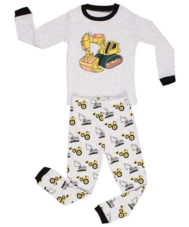 Elowel Little Bulldozer Pajama Size2Y 8Y