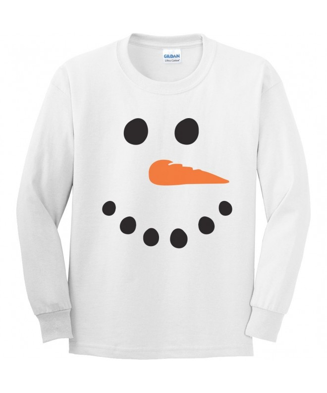 Snowman Youth Sleeve T Shirt White