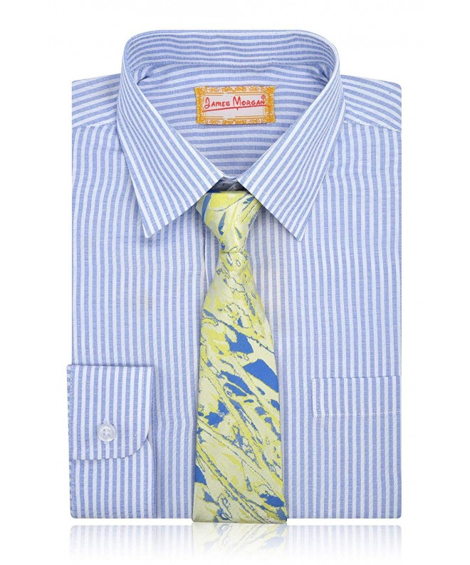 JAMES MORGAN Stripe Shirt Splatter