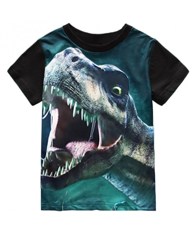 Toddler Sleeve T Shirts Dinosaur Cotton