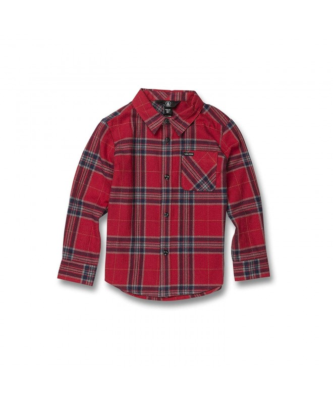 Volcom Little Caden Plaid Sleeve