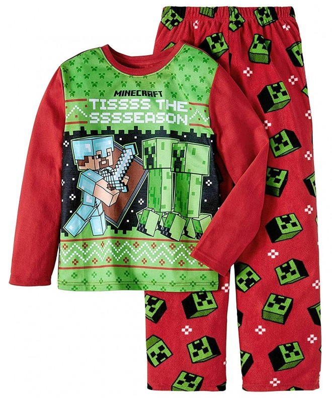 Minecraft Pajamas Christmas Tissss Ssssseason