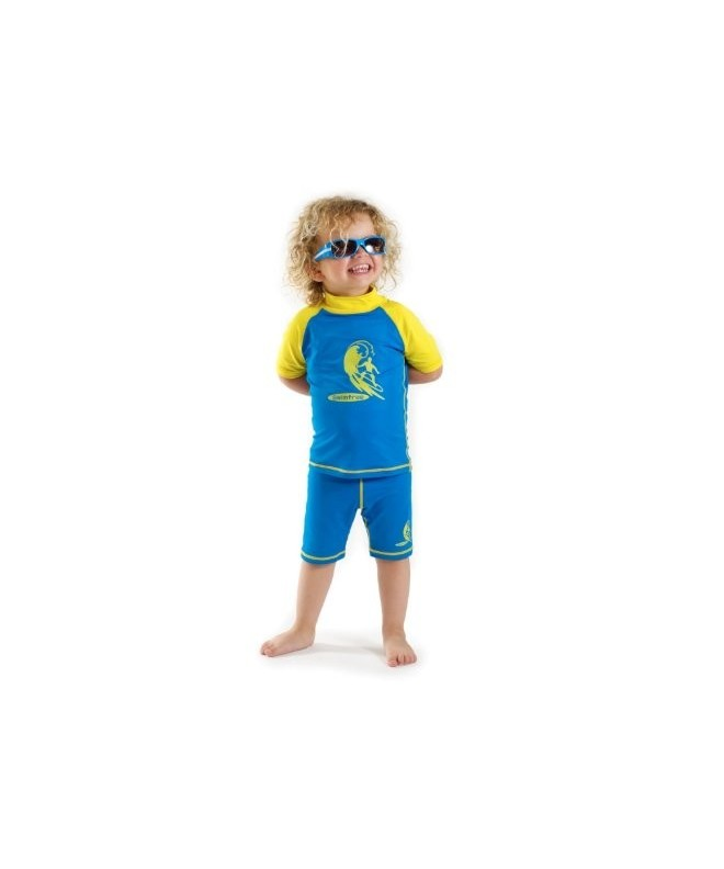 Boys yellow Protective guard Swimsuit