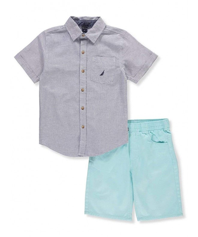Nautica Woven Shirt Two Piece Short