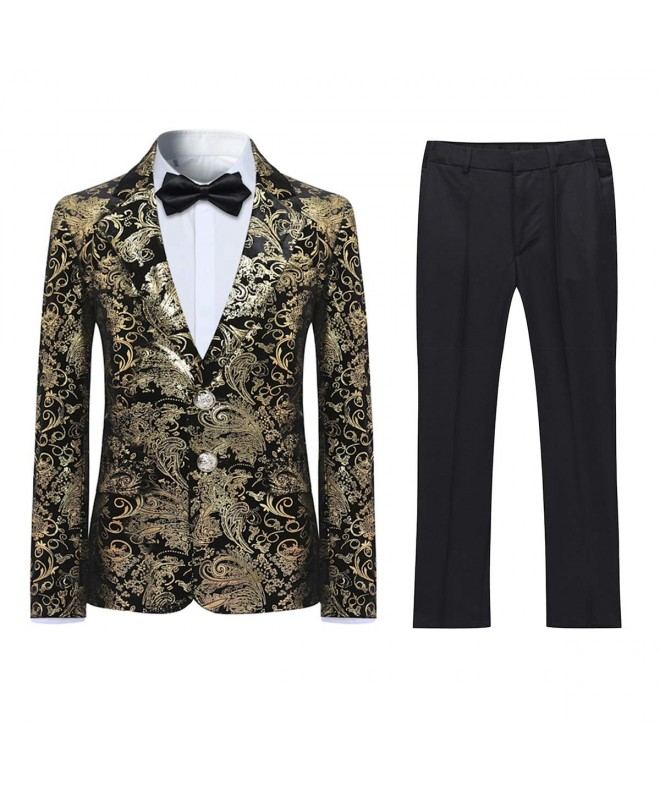 Boyland Tuexdo Formal Golden Jacquard