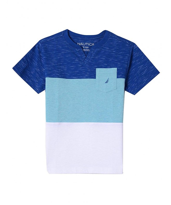 Nautica Boys V Neck Graphic Tee