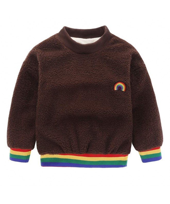 Motteecity Clothes Rainbow Embroidered Pullover