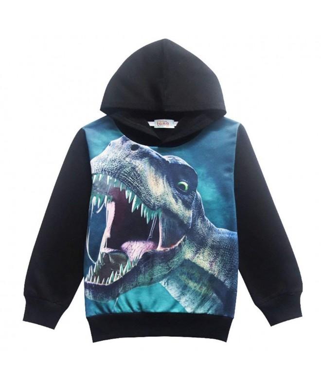 Toddler Hoodie Dinosaur Trendy Sweatshirt