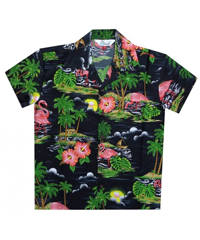 Hawaiian Shirts Scenic Flamingo Holiday