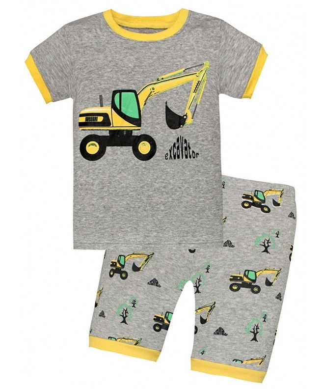 BABES HOME Excavator Sleepwear Childrens