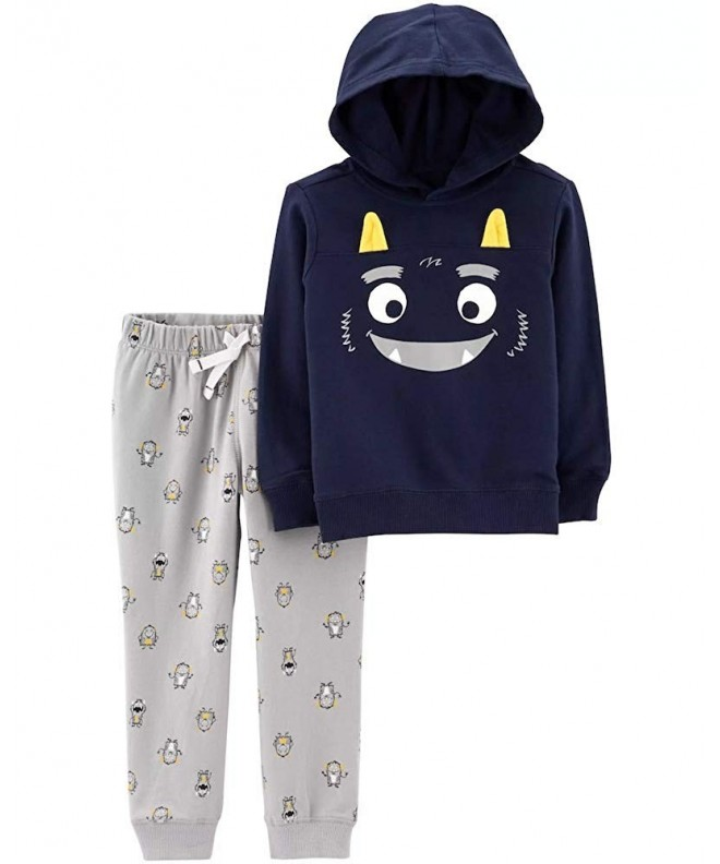 2 Piece Monster Hoodie Jogger Navy