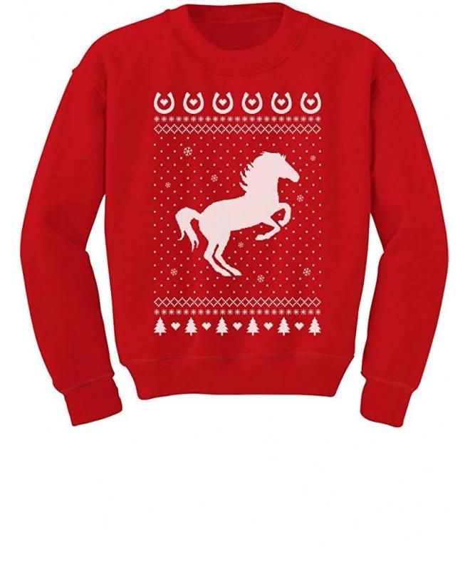 Tstars Christmas Outfit Horses Sweatshirt