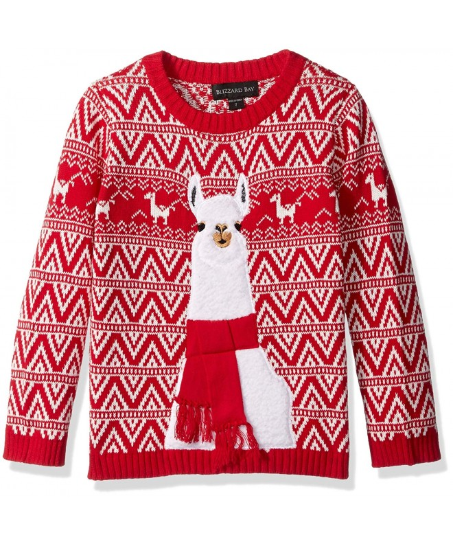 Blizzard Bay Boys Llama Sweater
