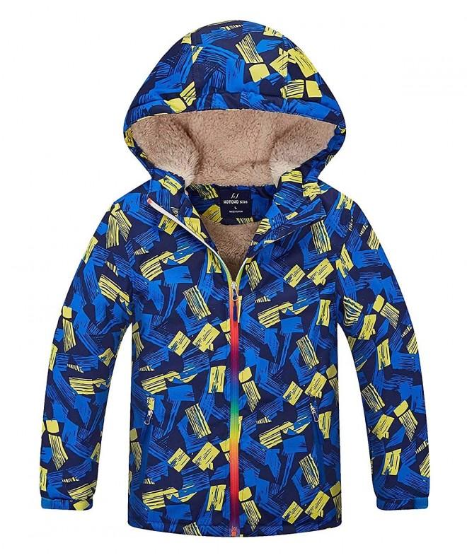 HuTuHu Fleece Windbreaker Overcoat Hooded