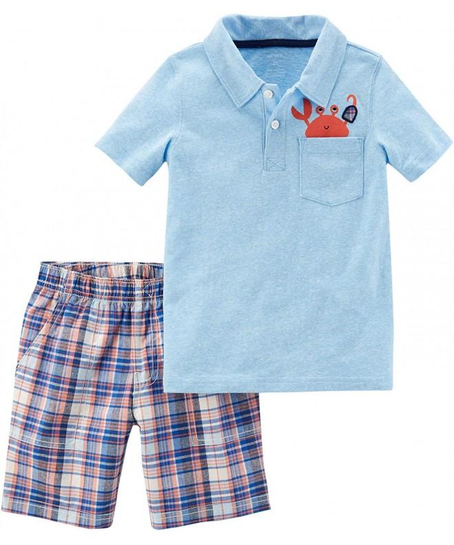 Carters 2 Pc Short Sleeve Pocket Shorts