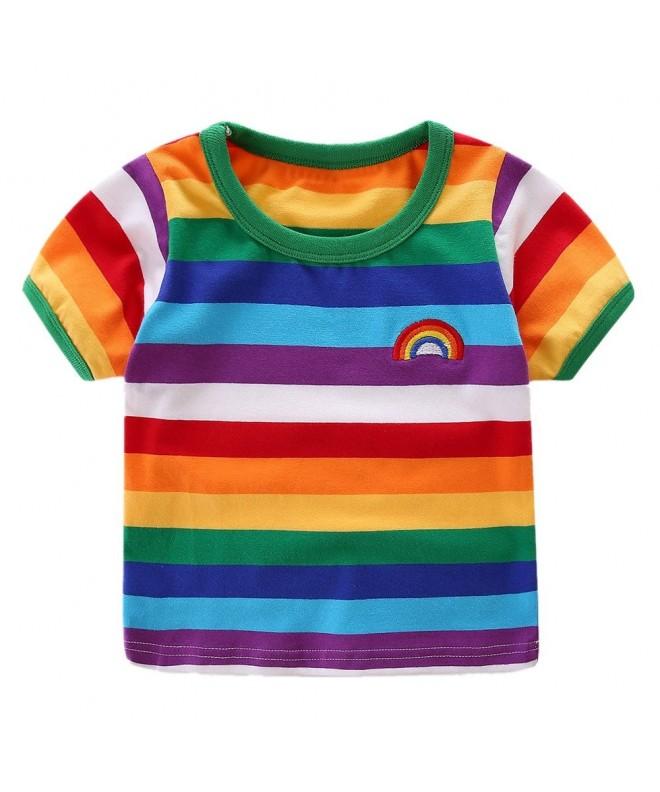 LittleSpring Little Boys T Shirt Rainbow