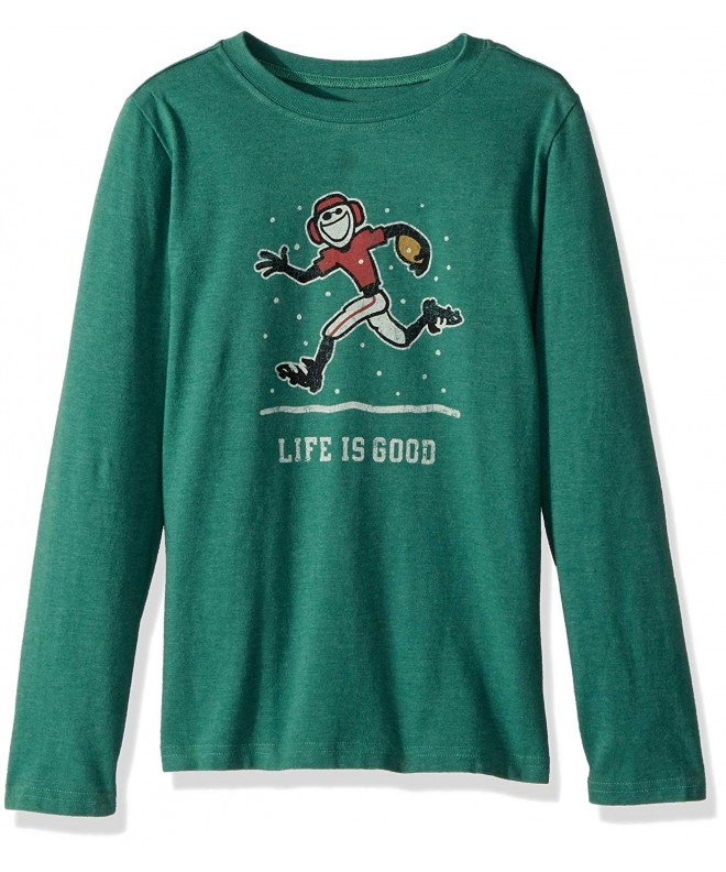 Life Good Sleeve Football T Shirt