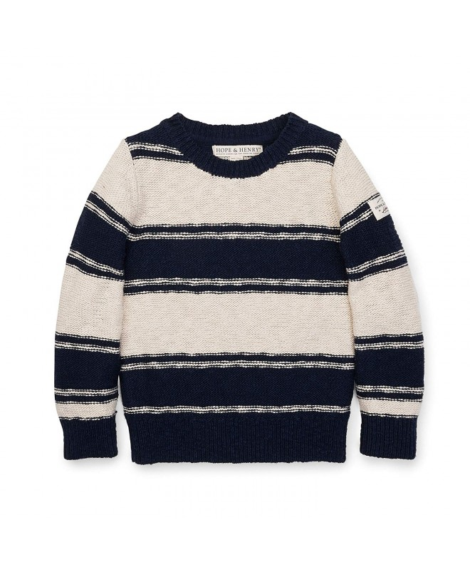 Hope Henry Oatmeal Striped Sweater