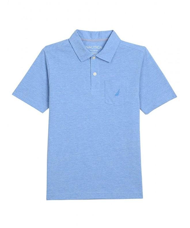 Nautica Short Sleeve Solid Chest Pocket