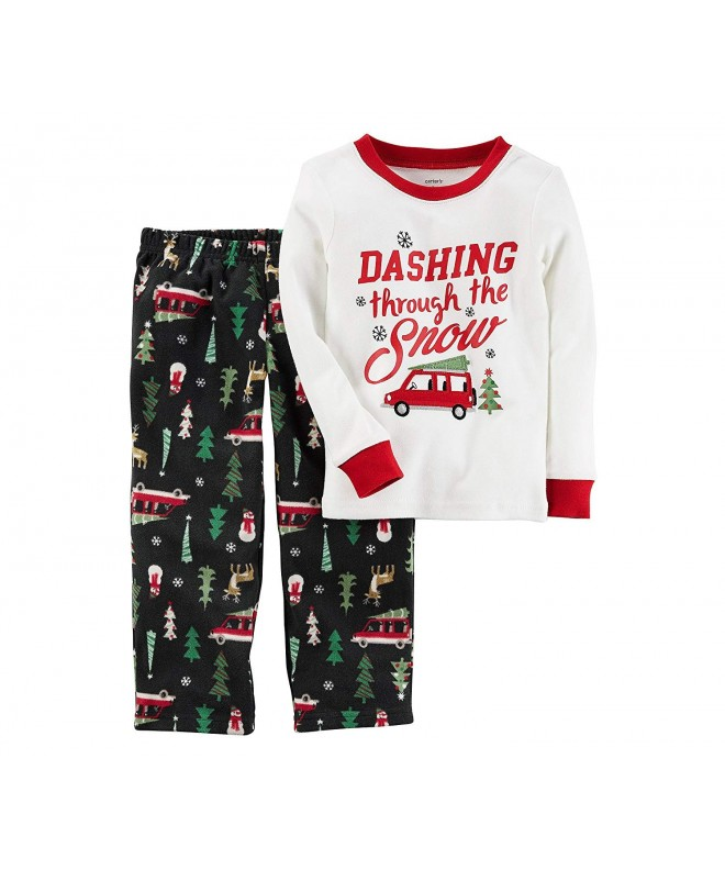 Carters Christmas Cotton Fleece Pajamas
