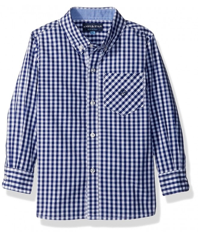 Andy Evan Gingham Sleeve Button Down