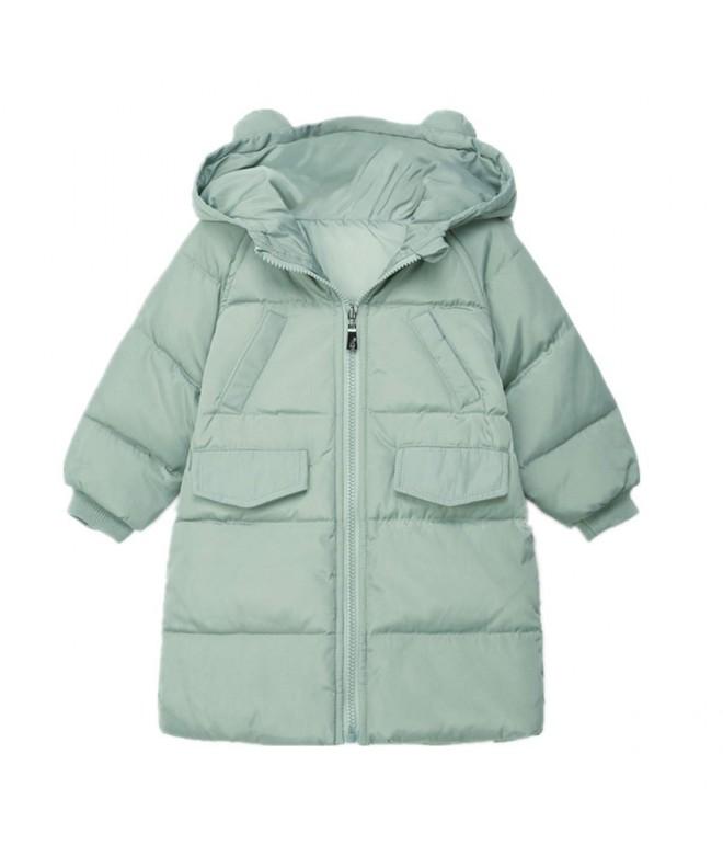 Mid Long Hoodie Jacket Rabbit Hooded