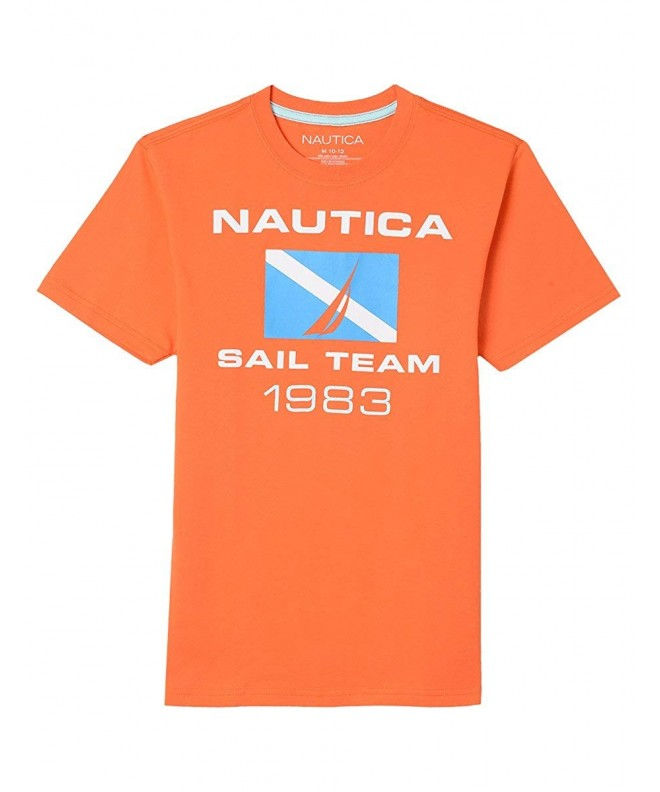 Nautica Sleeve Sailing Graphic T Shirt