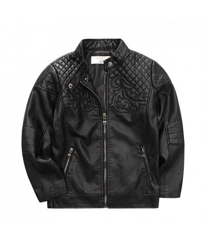 LJYH Vintage Leather Children Jacket