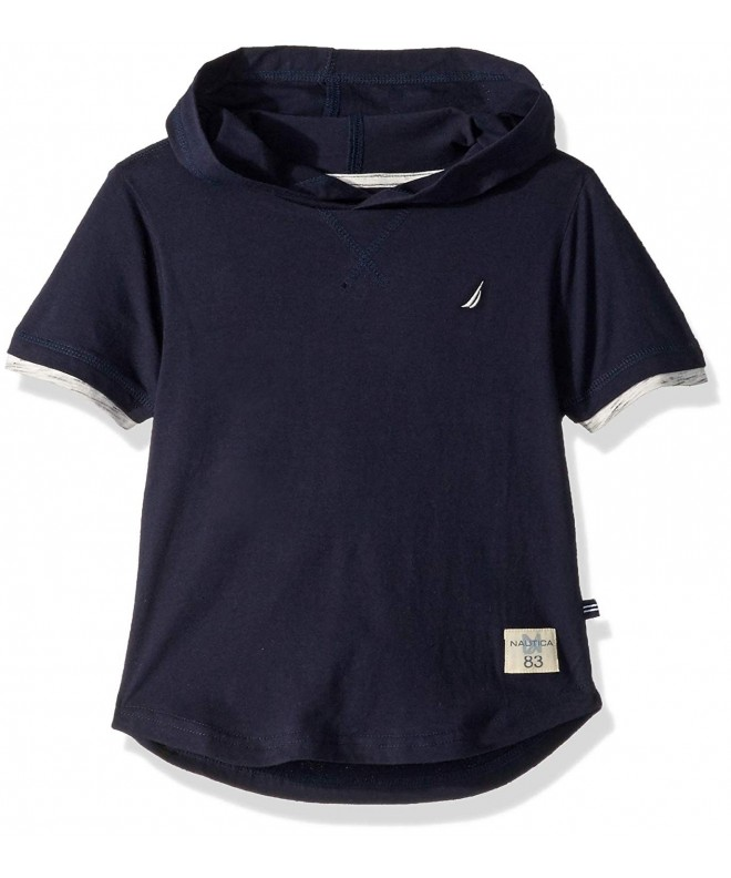 Nautica Short Sleeve Hooded T Shirt