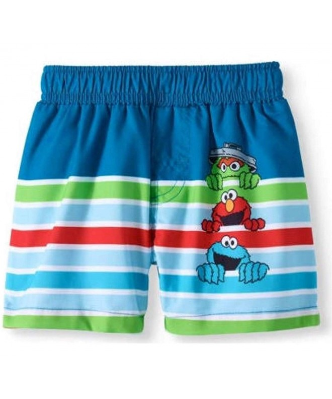 Sesame Street Royal Striped Trunks