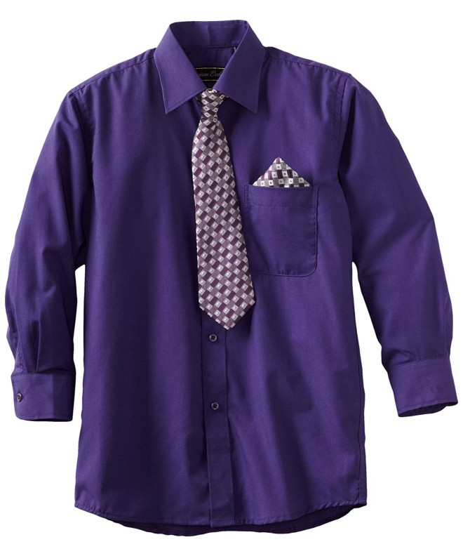 American Exchange Pocket Square Purple