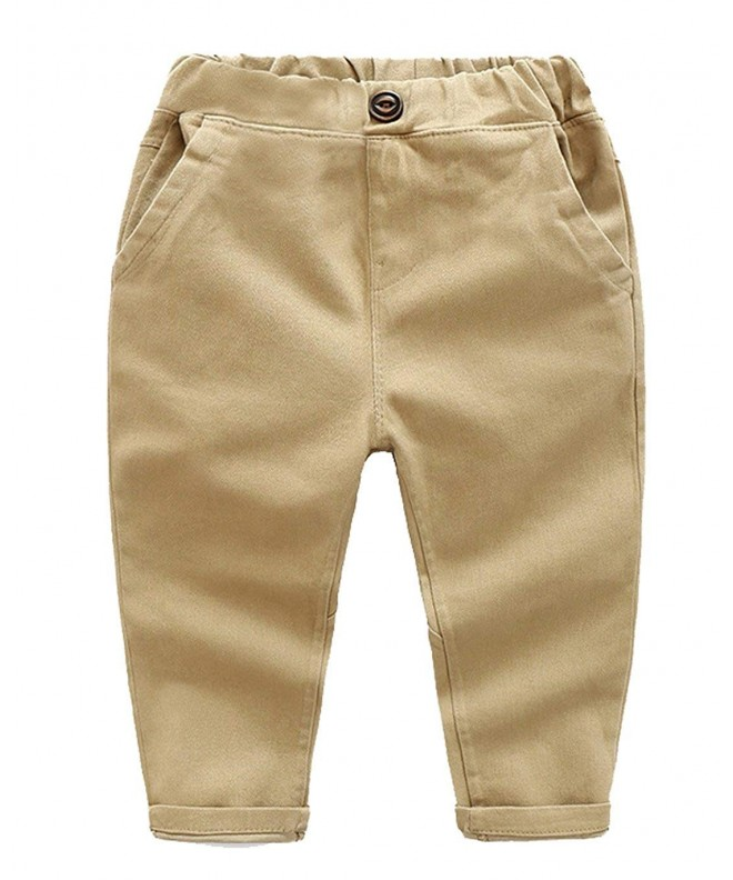 BALETONGNIAN Chino Toddler Cotton Joggers